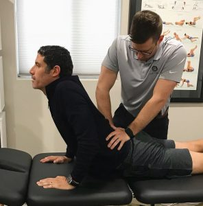 Dr. Jolson and world champion cyclist George Hincapie - Upstate Spine & Sport - Sciatica Treatment