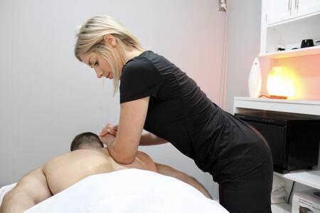 Woman Giving Back massage